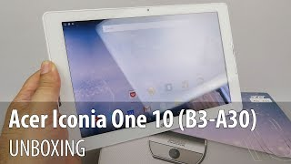 Acer Iconia One 10 (B3-A30) Unboxing (10 inch Entry Level Tablet)