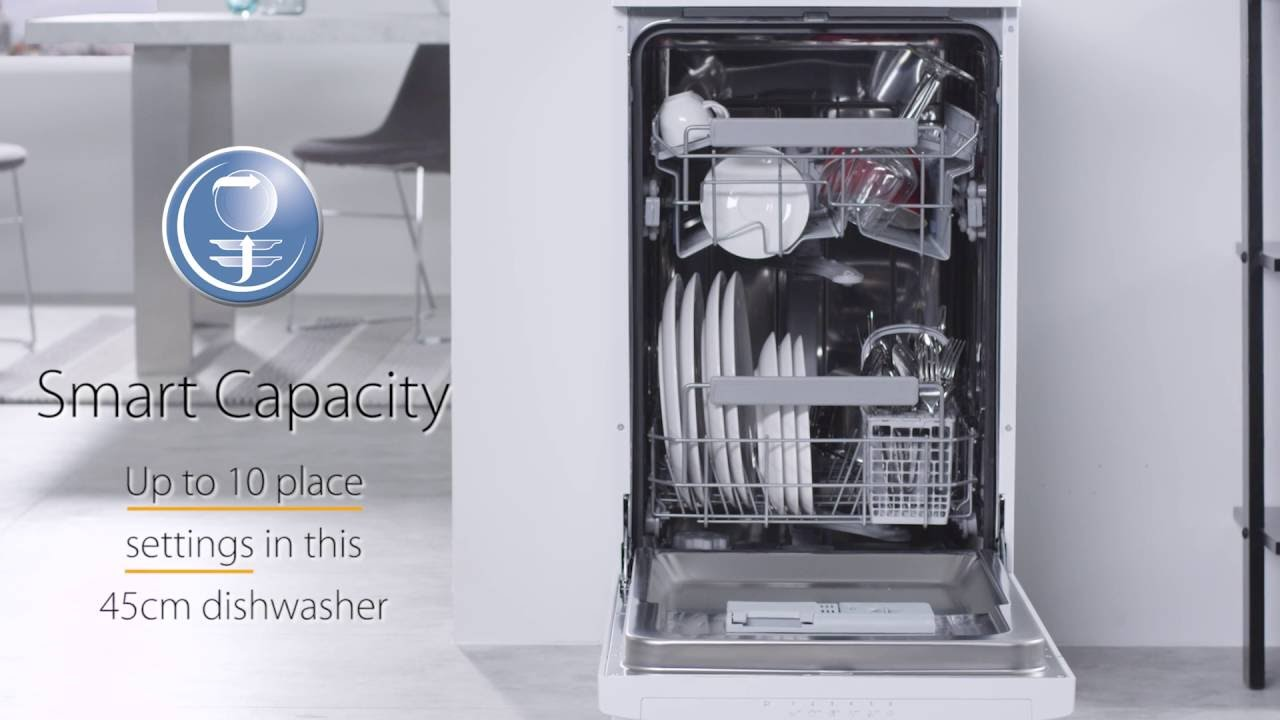 Whirlpool ADP301WH UK 45cm Dishwasher