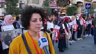 مسيرة وسلسلة بشرية دعما للأسرى في سجون الاحتلال (22/12/2019)