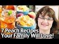 7 Peach Recipes Your Family Will Love! Easy Peach Cobbler Recipe, Peach Tea And More!