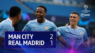 Manchester City vs Real Madrid (2-1, 4-2 on agg) | UEFA Champions League Highlights