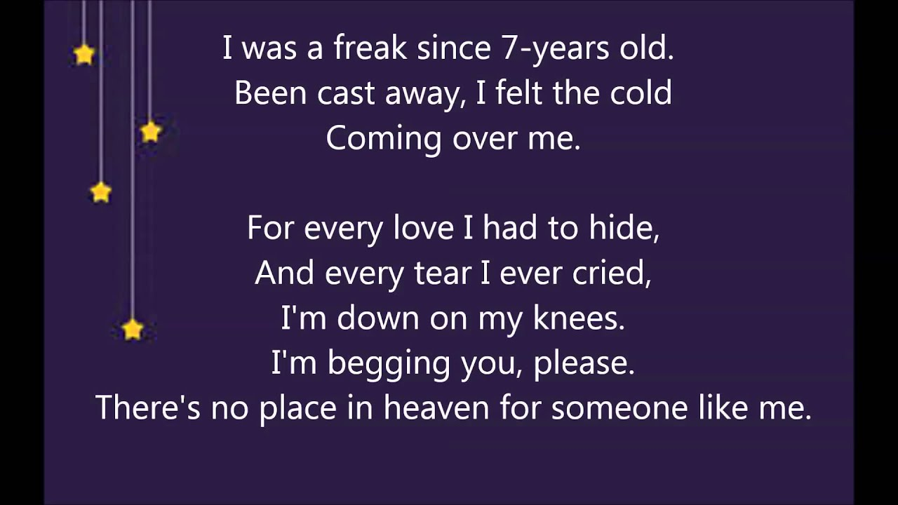 No Place In Heaven Mika Lyrics Youtube