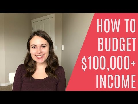 BUDGET FOR A $100,000 ANNUAL INCOME