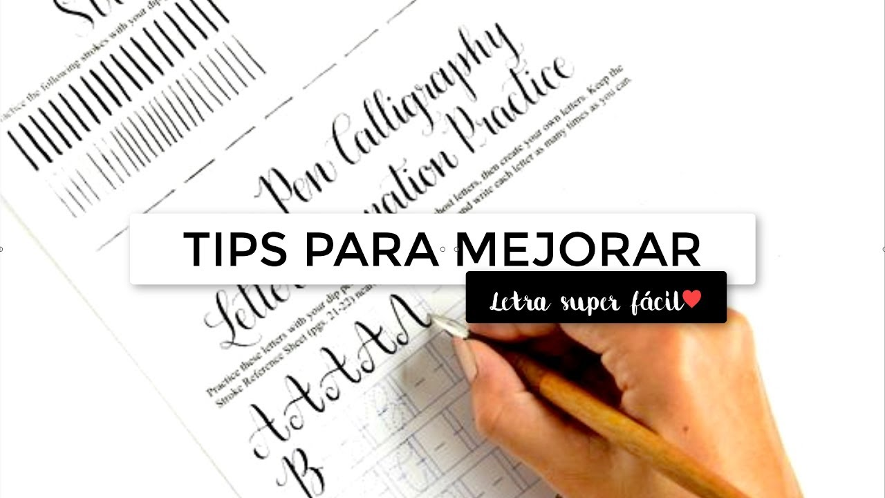 Tips para mejorar tu letra y tener apuntes bonitos c mo mejorar mi letra articratfs youtube - Como mejorar la caligrafia ...