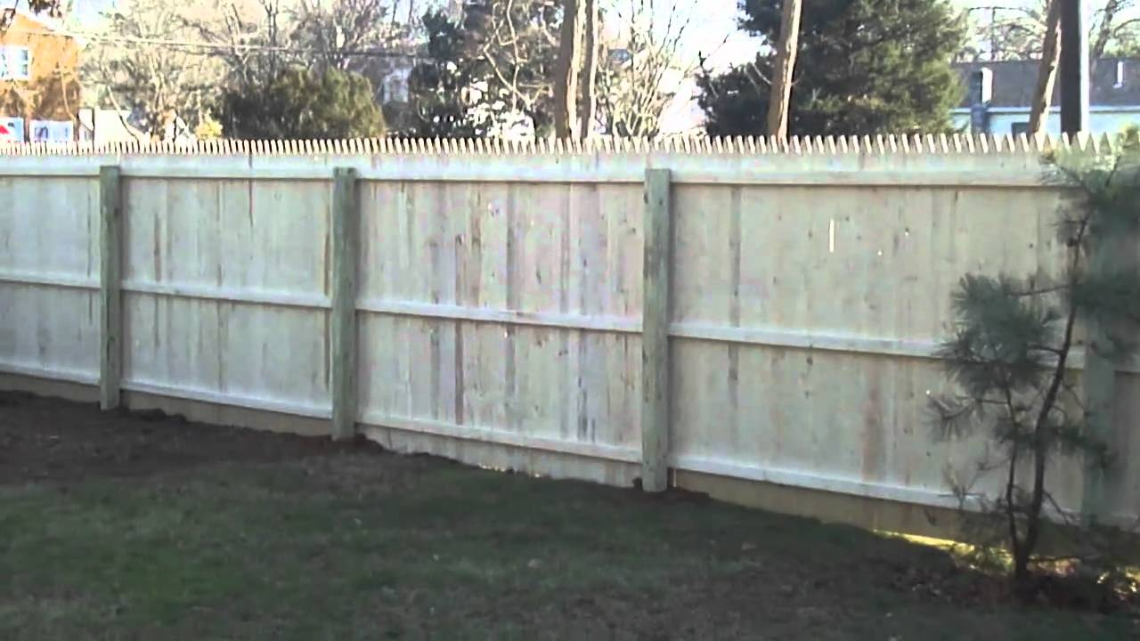Stockade Fence Sunrise Custom Fence East Inc Youtube