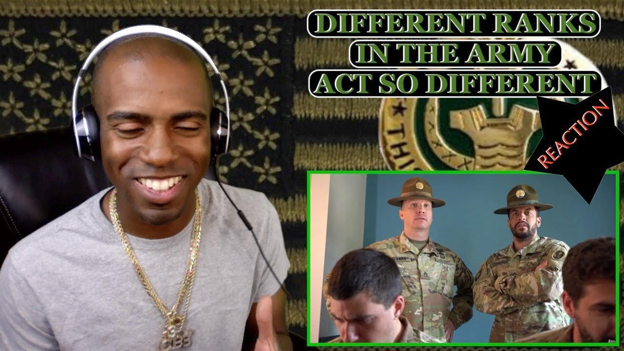 [A COMBAT VETERAN] WHAT EVERY RANK DOES IN THE ARMY [REACTION]