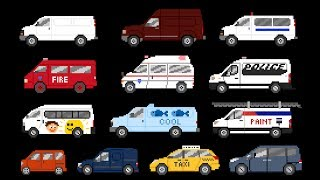 Vans - Street, Commercial & Emergency Vehicles - The Kids' Picture Show (Fun & Educational)