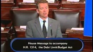 Sen. Rand Paul Speaks Out Against Budget Agreement on Senate Floor - October 29, 2015