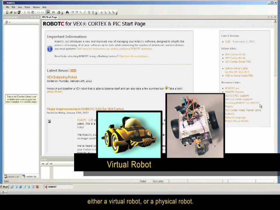 Rvw Step 2a Setting Up Robot Virtual Worlds Do Not Have Robotc