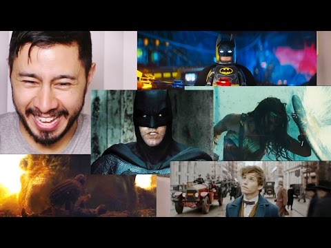 Warner Brother's COMIC CON 2016 TRAILERS | REACTION BY JABY!