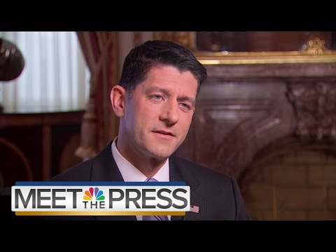 Paul Ryan On Donald Trump, GOP Duties, Second Amendment (Full Interview) | Meet The Press | NBC News