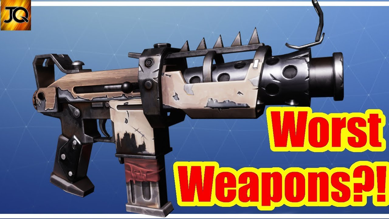 Least Used/Worst Weapons? Slienced SMG Questions - Fortnite Battle Royale