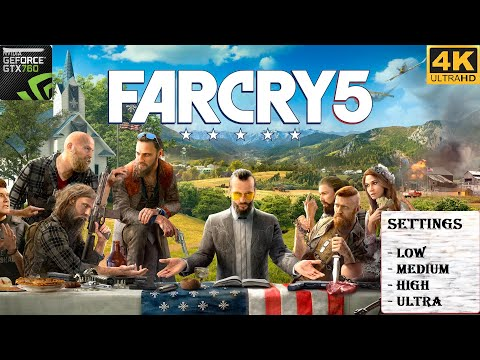 Far Cry 5 | on GTX 760 2GB GamePlay | Graphic Test | Low, Medium, High, Ultra | 4K Ultra HD |