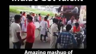 Dhol Tasha amazing mashup | Awesome mush up
