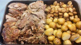 Receita de carne assada no forno com batata e castanha by necasdevaladares