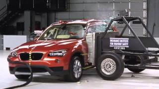 IIHS - 2013 BMW X1 crash tests /moderate overlap /side/ small overlap/