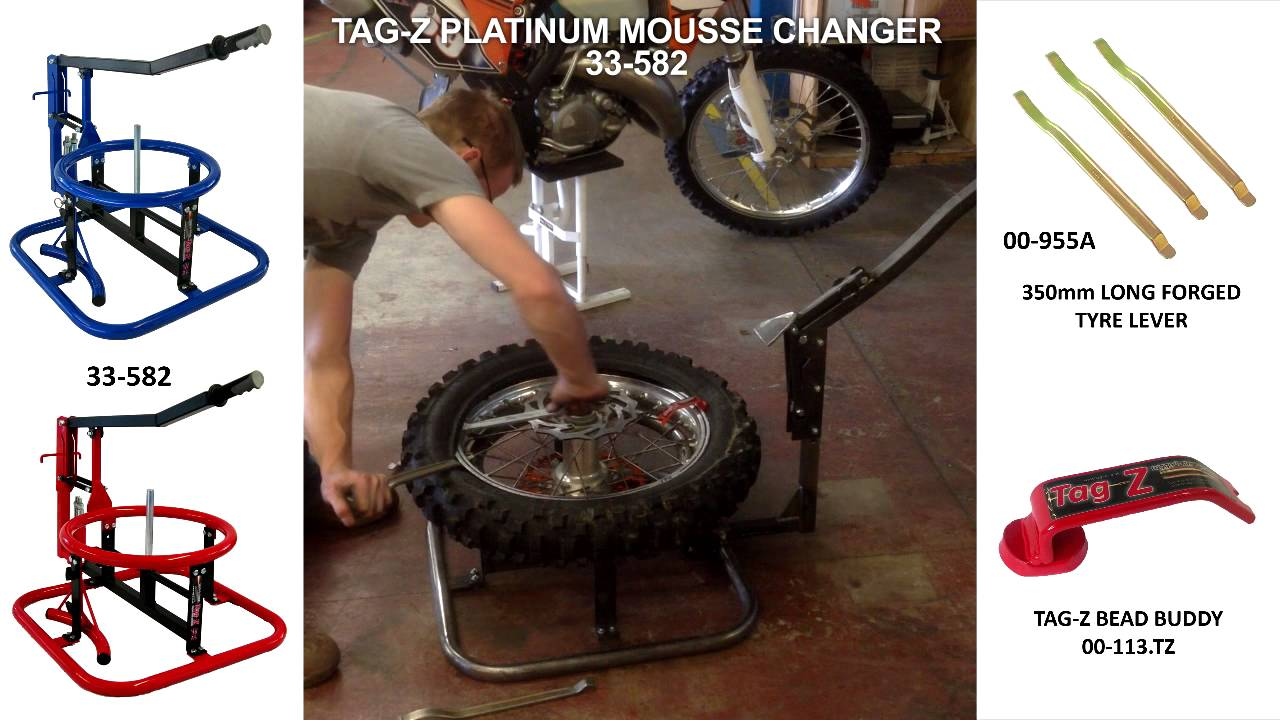 Bevorzugt 33-582 Tag-Z PLATINUM TYRE TIRE MOUSSE CHANGE ENDURO / MX HOW TO  XK11