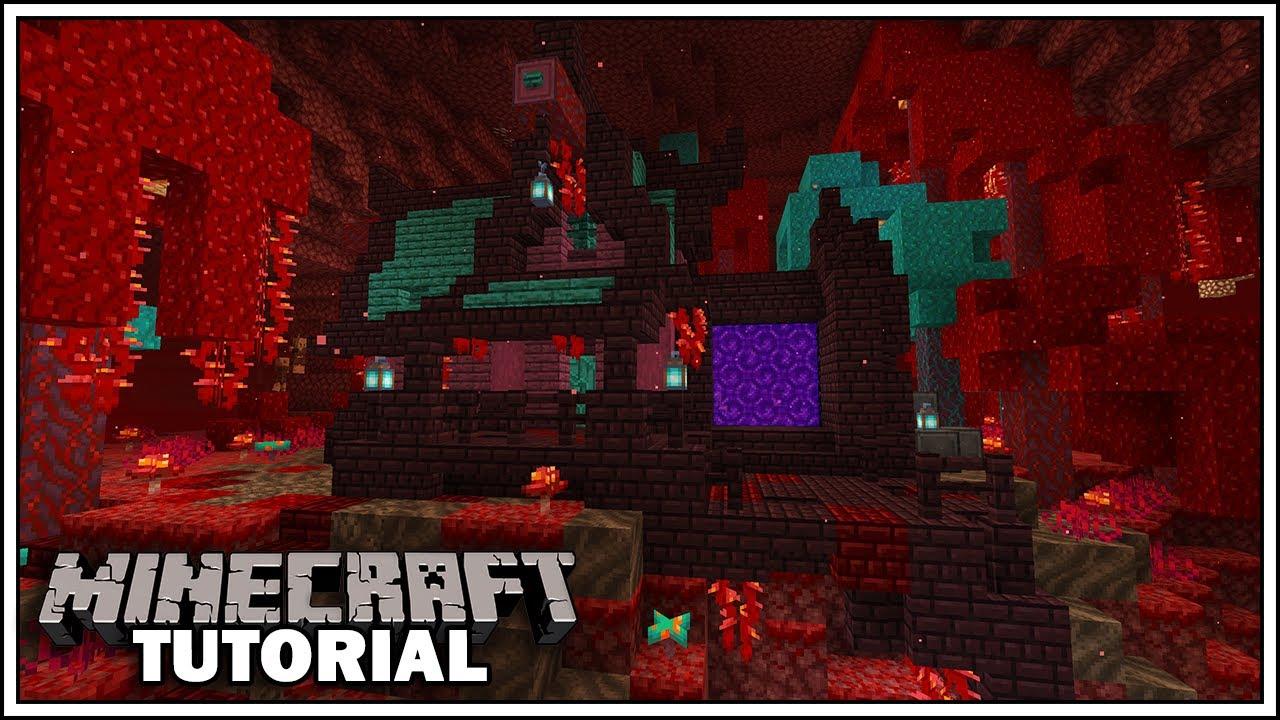 Minecraft 1 16 Starter House Tutorial Nether Update House Youtube