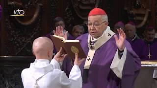 Messe d'action de grâce pour les 12 ans d'épiscopat du cardinal Vingt-Trois