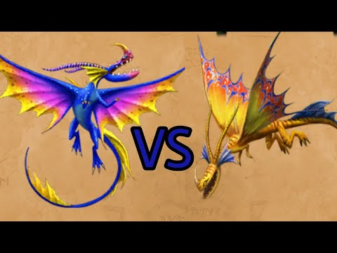 Death Song VS Dazzlesing - The battle of exclusive Slithersongs - Dragons:Rise of Berk