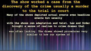 Decades of Television Crime Drama Entertainment - Law and Or
