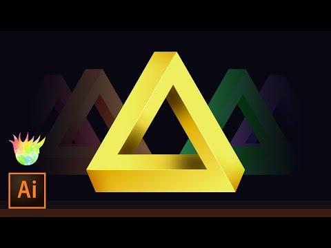 Create the Penrose (impossible) Triangle in Adobe Illustrator CC!