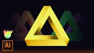 Create the Penrose (impossible) Triangle in Adobe Illustrator CC!   | Educational