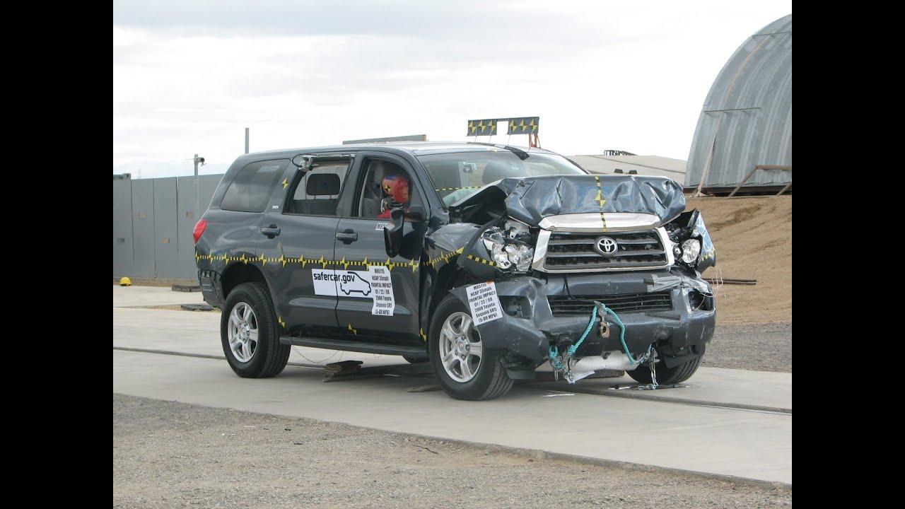 Five Star Toyota >> 2008-2018 Toyota Sequoia NHTSA Frontal Impact - YouTube