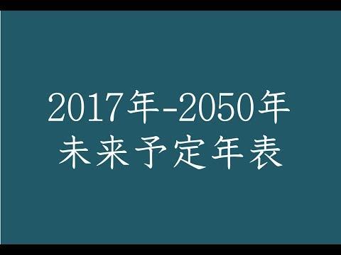 「未来予定年表」2017年~2050年