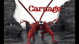Kaiyodo Figure Complex Revoltech Amazing Yamaguchi Marvel CARNAGE Action Figure Toy Review