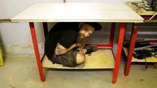 Каркас освещения и макетный стол для мастерской