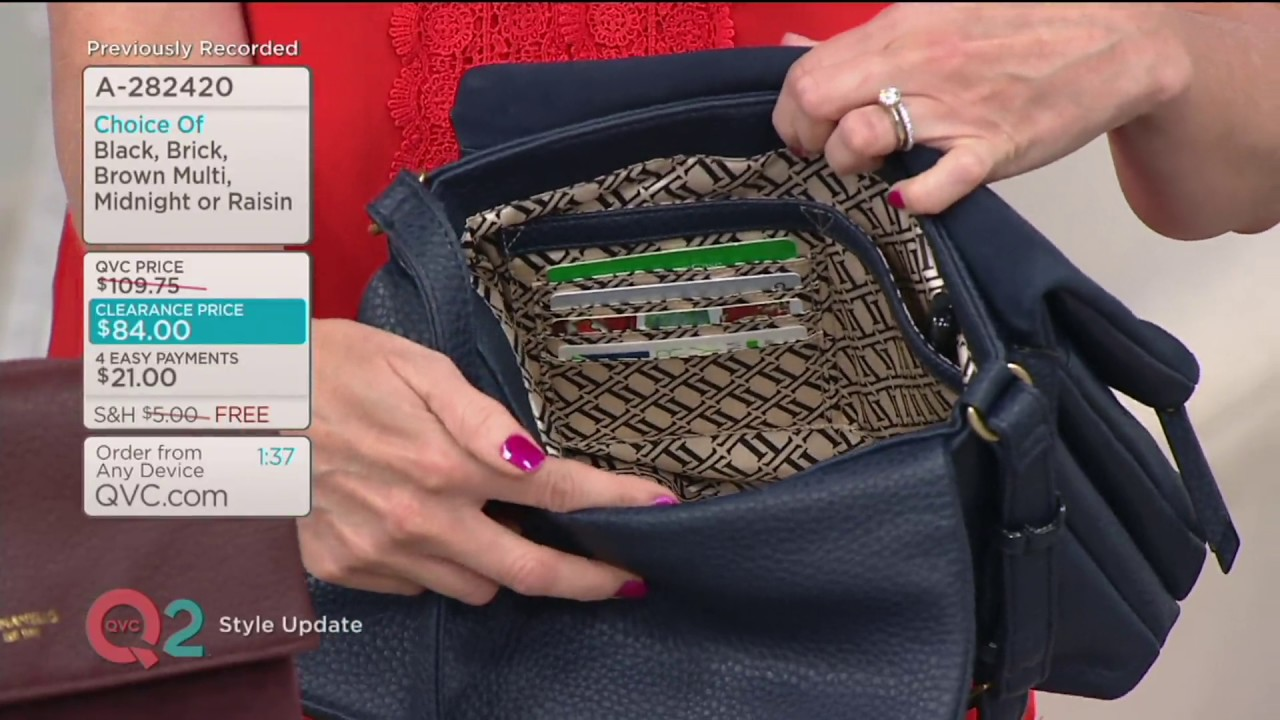 Tignanello Pebble Suede Leather Multi Pocket Rfid Crossbody On Qvc