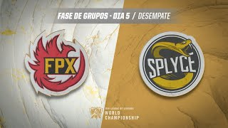 Mundial 2019: Fase de Grupos - Dia 5 | FunPlus Phoenix x Splyce (Desempate)