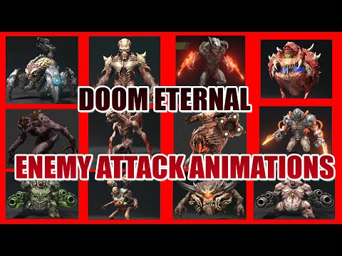 DOOM Eternal Enemy Attack Animations - No HUD & No Weapon |
