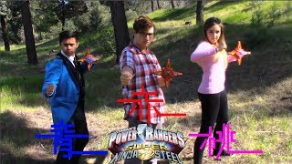 Power Rangers Super Ninja Steel Red, Blue, & Pink Ranger Part 1