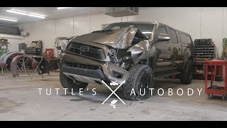 Download Toyota Tacoma  vs Telephone pole | Rebuild by Tuttles Autobody | 4k Mp3 and Videos