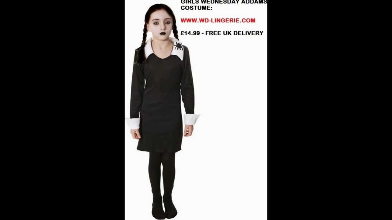 Girls Wednesday Addams Costume The Addams Family Childrens Outfit