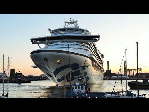 Crown Princess arriving in Dublin Port
