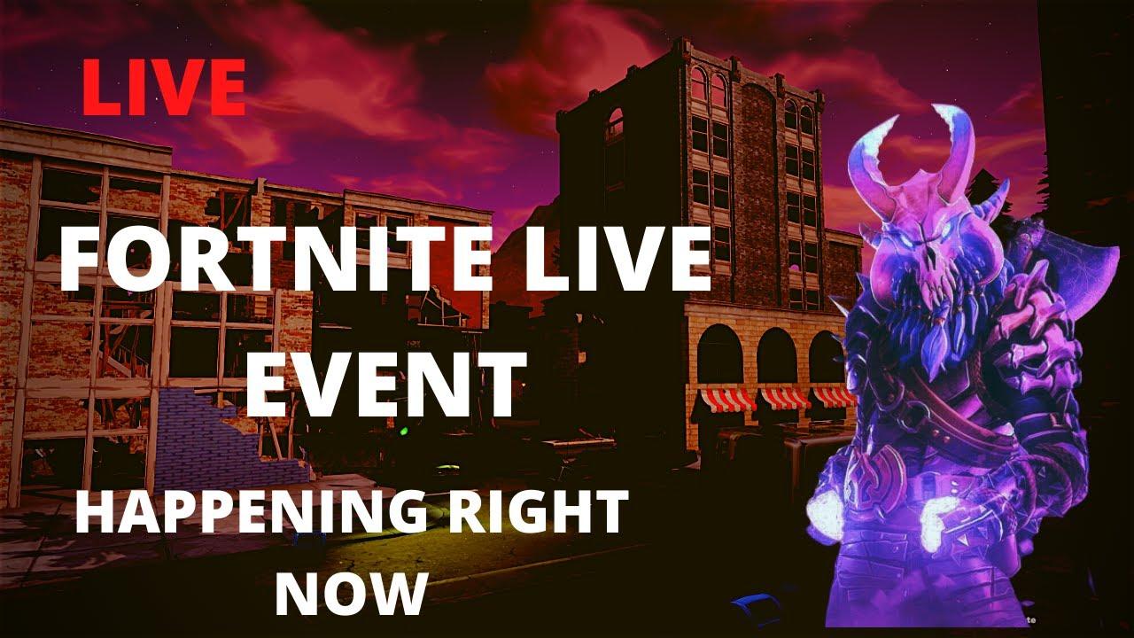 Fortnite live event.