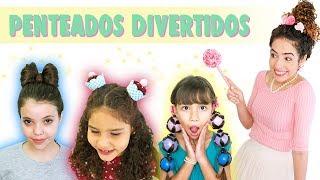 PENTEADOS DIVERTIDOS PRA CRIANÇAS: laço, cupcake e balão | Paula Stephânia