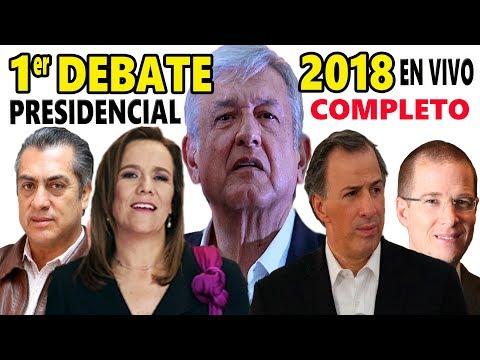 Primer Debate a la Presidencia 2018 - en Vivo