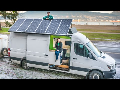Couple Sells House & Moves Into Their Gorgeous Sprinter Van - 36 Day Build