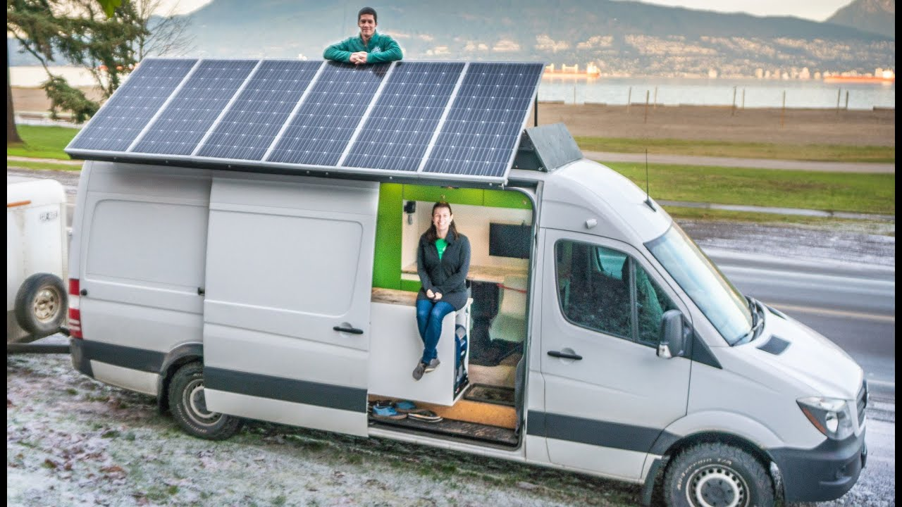 Download Couple Sells House & Moves Into Their Gorgeous Sprinter Van - 36 Day Build