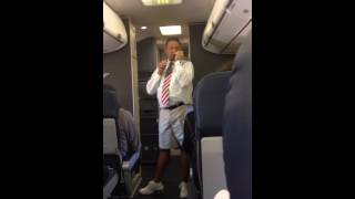Hilarious Southwest Flight Attendant San Francisco to Chicago on 6 17 14