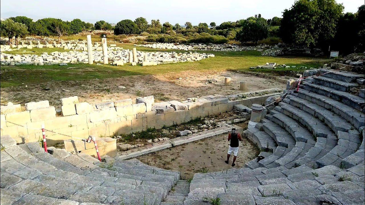 Walking Tour in Izmir: Teos Ancient City, Sığacık (Seferihisar) - Turkey (July 2020)