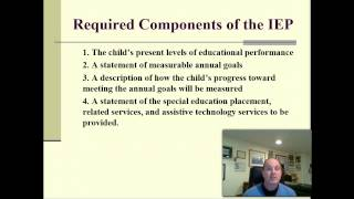 Part 1--Individualized Education Programs (IEP)