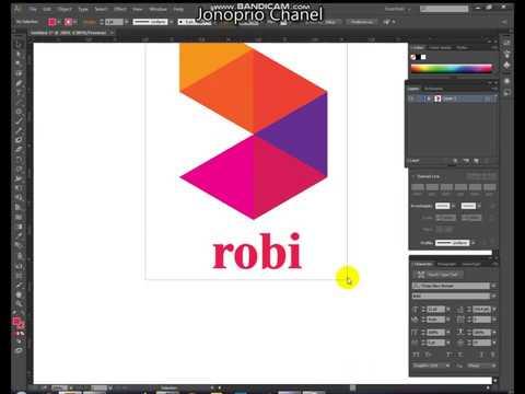 How to Make | Robi | LOGO | Bangla | Tutorial | illustrator thumbnail