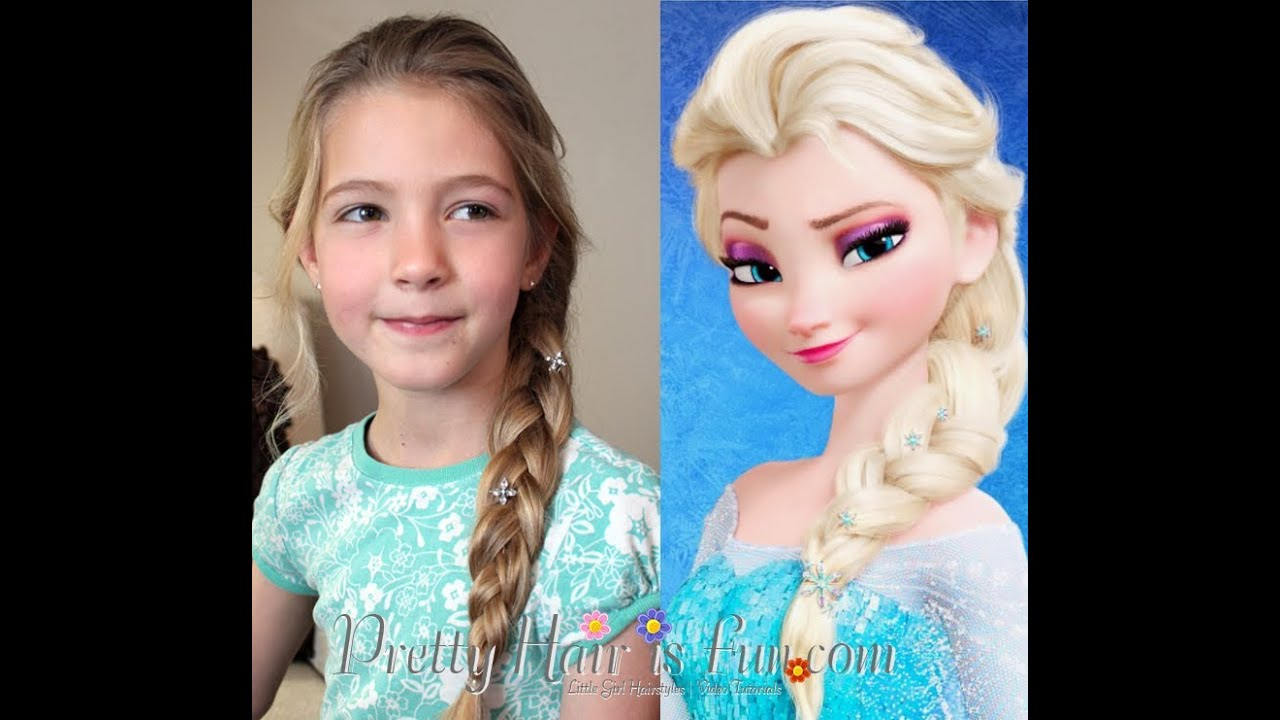 elsa's hairstyle french braid