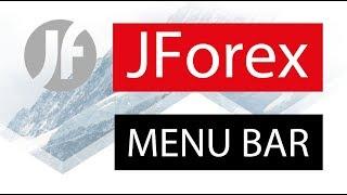 JForex ● Platform FOREX CFD × Menu Bar