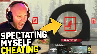 I SPECTATED MYSELF CHEATING?!? (CALL OF DUTY WARZONE)